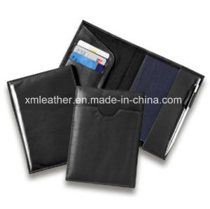 Simple Design Leather Travel Document Holder Wallet with CD Case pictures & photos