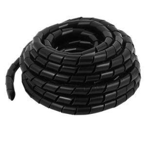 Spiral Wrapping Bands, 6 Foot Cable Wrap / Spiral Wrap, Black