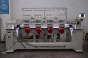 Mulit Heads Industrial Embroidery Machine for Hat T-Shirt & Flat Embroidery Wy1204c pictures & photos