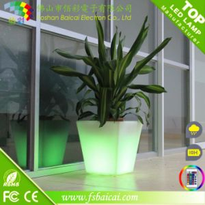 Garden Furniture Colorful LED Handmade Flower Pot