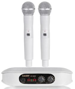 Ealsem Es-620 VHF 2 Double Channel Super Fidelity Wireless Microphone