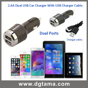 2.4A Dual USB Car Charger for iPhone iPad Samsung etc pictures & photos