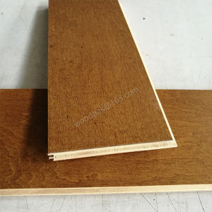 Wood Flooring Birch Engineered Flooring with Yellow Brown Color pictures & photos