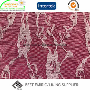 100% Polyester Fashion Knitting Lace Lining Fabric pictures & photos