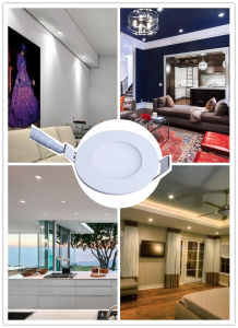 Hot-Selling Slim LED Ceiling AC85-265V 3W 270lm 3years Warranty Round Lamp Panel Light pictures & photos