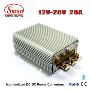 Waterproof IP68 12V to 28V 20A 560W DC-DC Converter pictures & photos