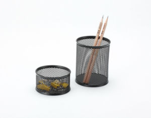 Office Supplies/ Metal Mesh Stationery Pencil Holder/ Office Desk Accessories pictures & photos