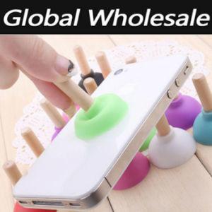Unique OEM Design Toilet Plug Shape Sucker Silicone Phone Holder pictures & photos