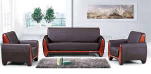 Modern Classic Office Leather Sofa with Wooden Frame (HX-CF003) pictures & photos