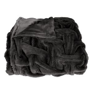 Super Soft Faux Fur Throw with Double Plush Blanket pictures & photos