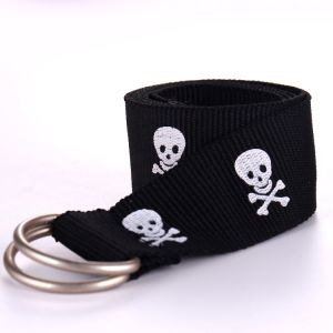 Wholesale Customize D-Ring Buckle Skeleton Jacquard Belt pictures & photos
