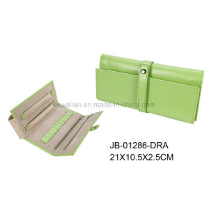 Fashion PU Leather Travel Jewelry Roll pictures & photos