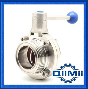 Sanitary Stainless Steel Manual/Pneumatic Operated 304 316L Butterfly Valve pictures & photos