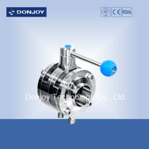 Manual Double Butterfly Valve for Food Process pictures & photos