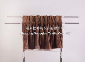 2017 Super-Soft Velour with Shu Velveteen Blanket / Sherpa Fleece Throw-Little Brown pictures & photos