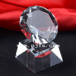 Glass Crystal Diamond with Base Trophy Award pictures & photos