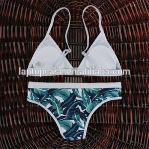 Hot Selling Lingerie Bikini with Customized Printing Triangle Cupped pictures & photos