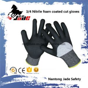 13G 3/4 Nitrile Foam Coated Cut Resistant Safety Glove Level Grade 3 and 5 pictures & photos