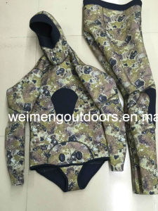 High Quality Heiwa Sheico Yamamoto Neoprene Camo Style Open Cell Freediving Spearfishing Wetsuit with Adhesive., 05
