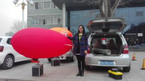2m 6.6 FT Red Indoor RC Blimp