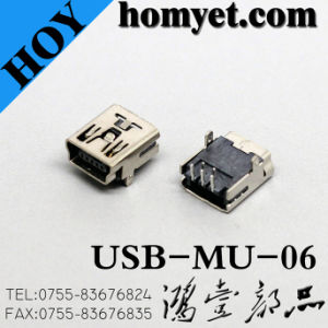 5p SMT Mini Type B USB Female Connector (US01-067) pictures & photos