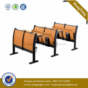 Durable Double Educational Furnitutre Stackable Folding Desk and Chair (HX-5D205) pictures & photos