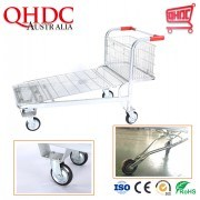 5 Wheels Heavy Duty Warehouse Logistic Cargo Trolley Hand Cart / Hand Truck