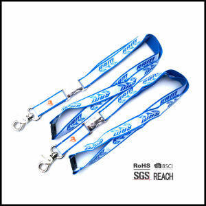 Durable USA Neck Strap ID Lanyard Design with Printed Metal Buckle pictures & photos