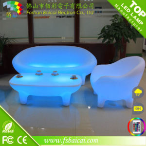 Color Change LED Leisure Chair Sofa Garden Furniture LED Sofa pictures & photos