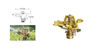 "Widely Used Zinc Alloy Controllable Angle Rotary Sprinkler 3/4"" Male for Garden Orchard Irrigation pictures & photos"