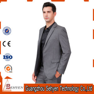 OEM Latest Design Men′s Trim Fit Business Checked Blazer Suit pictures & photos