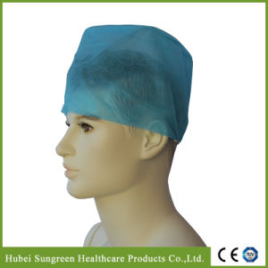 Disposable Non-Woven Surgeon Cap with Elastic at Back pictures & photos