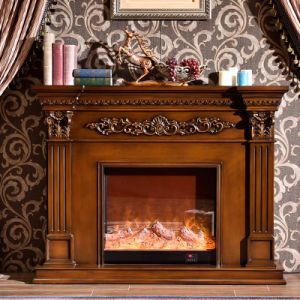Elecreic Hearth Solid Wood Fireplace Mantel Decor (GSP15-005) pictures & photos