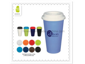 Best Selling Travel Ceramic Mug with Slicone Lid pictures & photos