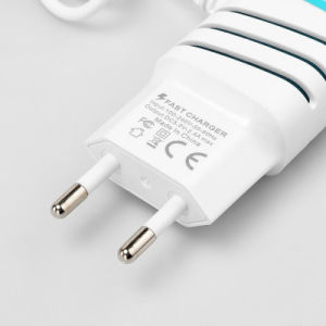 Portable Micro 2 Port USB Power Adaptor Wall Charger with LED Light pictures & photos