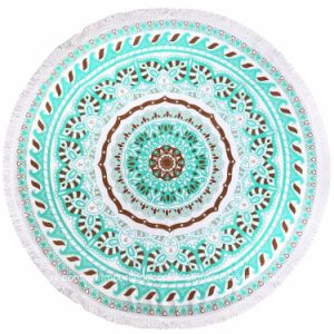 Microfiber Custom Printed Round Beach Towel pictures & photos