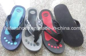 New Design Men EVA Slippers Softable Sandals Beach Flip Flop (FFMXD0217-01) pictures & photos