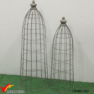 Set 2 Tall Rustic Grey Metal Wire Mesh Dome for Planters pictures & photos
