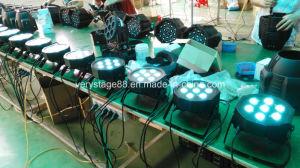 7X10W LED Mini PAR Can Slim Flat PAR 64 Disco Light pictures & photos