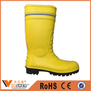 Yellow Color Rubber Rain Boot Water-Proof Men Boots pictures & photos
