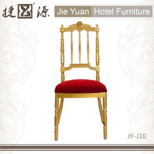 Gold Metal Chiavari Chair with Cushion (JY-J10) pictures & photos
