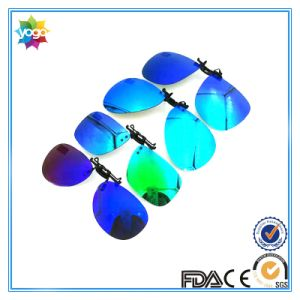 2017 Newest Eyeglass Frames with Clip on Rimless Mirror Sunglass pictures & photos