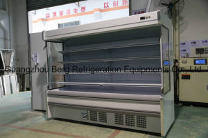 Supermarket Vertical Air Curtain Display Refrigerator for Fruit Vegetable pictures & photos