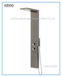 Kza-16223s Black Steel Mirror Finish Stainless Steel Shower Panel pictures & photos
