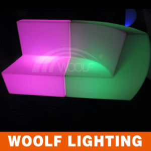 Outdoor Furniture LED Glow Plastic Bar Sofa pictures & photos