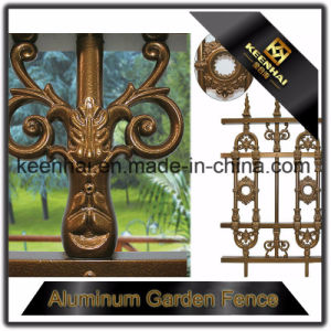 Exterior Decorative Powder Coated Cast Metal Aluminum Garden Fence pictures & photos