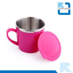Cute Cartoon Pattern Stainless Steel Water Mug & Milk Cup for Children pictures & photos