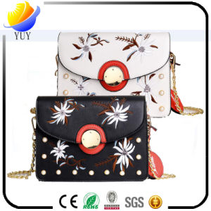 Gardenia Flowers PU Leather Handbag pictures & photos