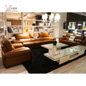Setional Modern Leather Sofa (1636A) pictures & photos