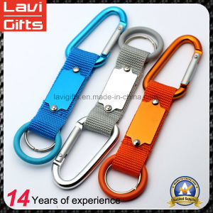 Factory Price Polyester Aluminum Carabiner Lanyard Keychain pictures & photos